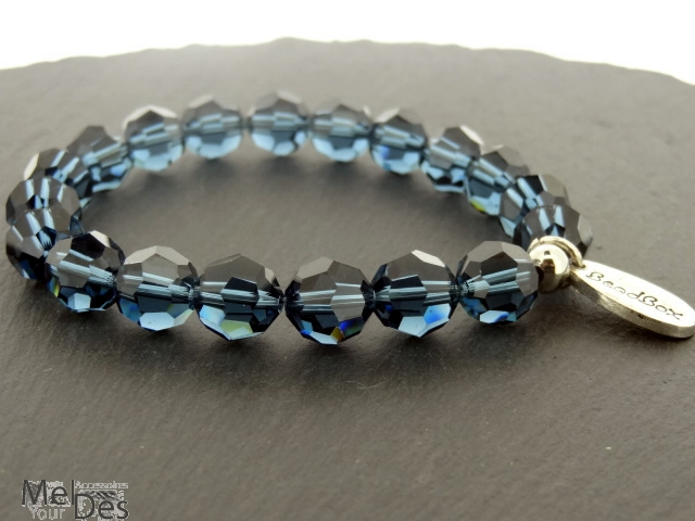 swarovski armband 10 mm in denim blue. Black Bedroom Furniture Sets. Home Design Ideas